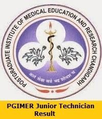 PGIMER Junior Technician Result