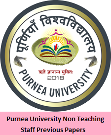 Purnea University Non Teaching Staff Previous Papers