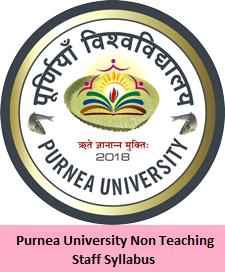 Purnea University Non Teaching Staff Syllabus