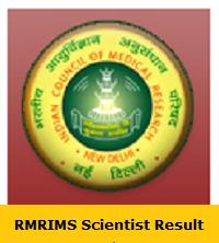 RMRIMS Scientist Result