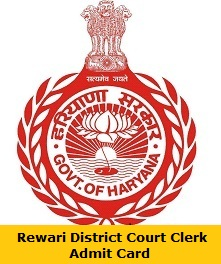Rewari District Court Clerk Admit Card