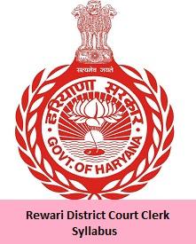 Rewari District Court Clerk Syllabus