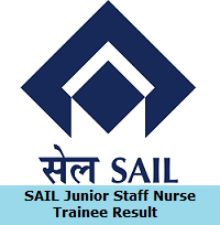 SAIL Junior Staff Nurse Trainee Result