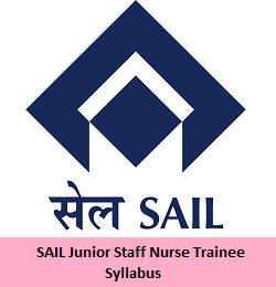 SAIL Junior Staff Nurse Trainee Syllabus