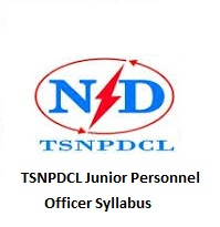 TSNPDCL Junior Personnel Officer Syllabus