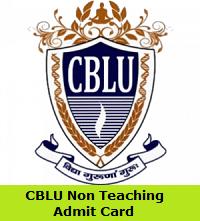 CBLU Non Teaching Admit Card