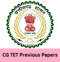 CG TET Previous Papers