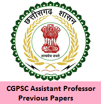 CGPSC Assistant Professor Previous Papers
