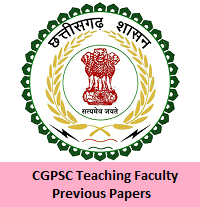 CGPSC Teaching Faculty Previous Papers