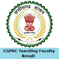 CGPSC Teaching Faculty Result