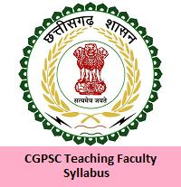 CGPSC Teaching Faculty Syllabus