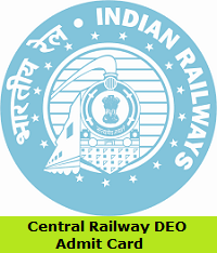 Central Railway DEO Admit Card