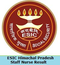 ESIC Himachal Pradesh Staff Nurse Result