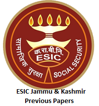ESIC Jammu & Kashmir Previous Papers