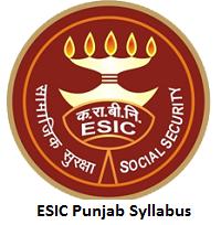 ESIC Punjab Syllabus
