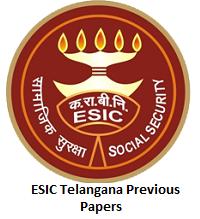 ESIC Telangana Previous Papers