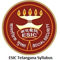 ESIC Telangana Syllabus
