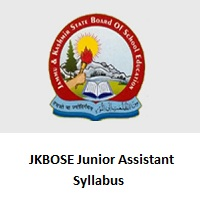 JKBOSE Junior Assistant Syllabus