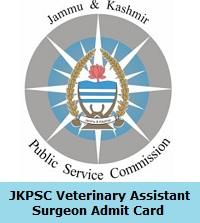 JKPSC Veterinary Assistant Surgeon Admit Card