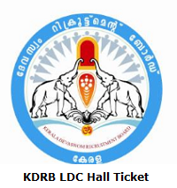 KDRB LDC Hall Ticket