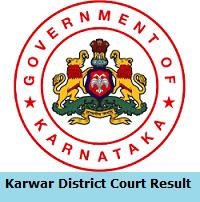 Karwar District Court Result