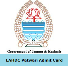 LAHDC Patwari Admit Card