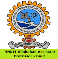 MNNIT Allahabad Assistant Professor Result