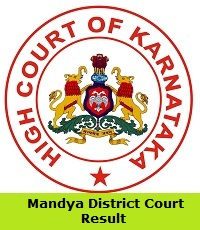 Mandya District Court Result