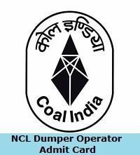 NCL Dumper Operator Admit Card