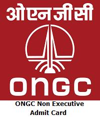 ONGC Non Executive Admit Card