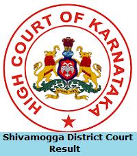 Shivamogga District Court Result