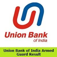 UBI Armed Guard Result 2019 | Union Bank of India Merit List