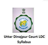 Uttar Dinajpur Court LDC Syllabus