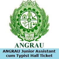 ANGRAU Junior Assistant cum Typist Hall Ticket