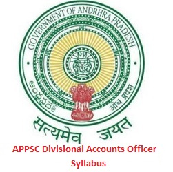 APPSC Divisional Accounts Officer Syllabus