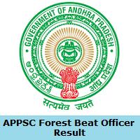 APPSC Forest Beat Officer Result