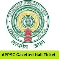 APPSC Gazetted OfficerHall Ticket
