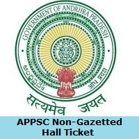 APPSC Non-Gazetted OfficerHall Ticket