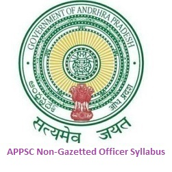 APPSC Non-Gazetted Officer Syllabus