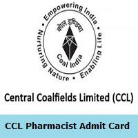 CCL Pharmacist Admit Card