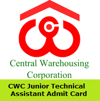 CWC Junior Technical Assistant Admit Card