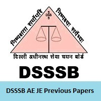 DSSSB AE JE Previous Papers