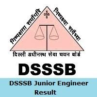 DSSSB Junior Engineer Result