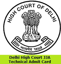 Delhi High Court JJA Technical Admit Card
