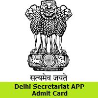Delhi Secretariat APP Admit Card