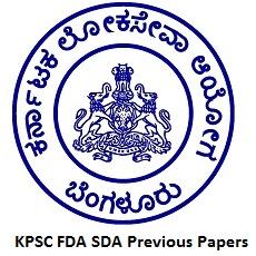 KPSC FDA SDA Previous Papers