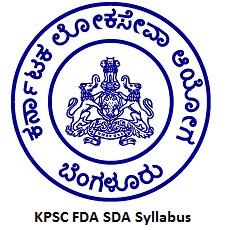 KPSC FDA SDA Syllabus