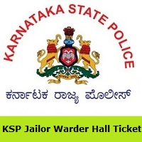 KSP Jailor Warder Hall Ticket