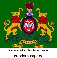 Karnataka Horticulture Previous Papers