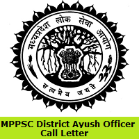MPPSC District Ayush Officer Admit Card